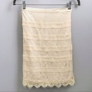 ✨NWT✨ Cream lace skirt